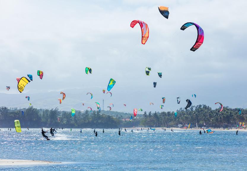 Kitesurfeurs à Boracay